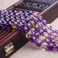 DIY饰品手工配件材料紫黄晶半成品6-12mm水晶手链项链散珠批发