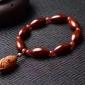 正宗机刷包浆橄榄核精雕光面老油核男女式项链 手链 手串